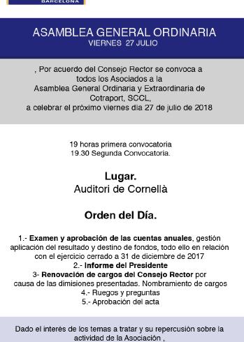 Cotraport celebra su asamblea ordinaria